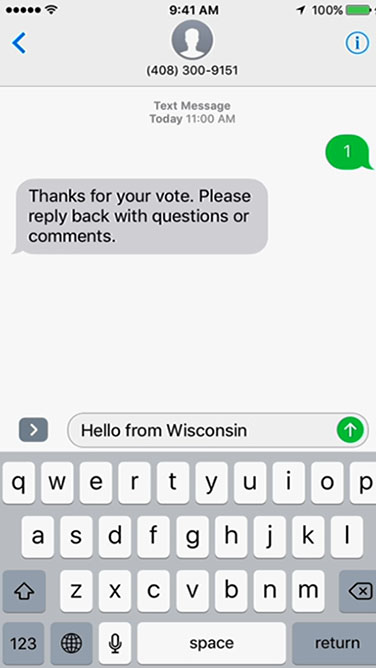 Vote by SMS texting